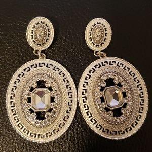 Silver stone women earring